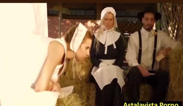 Rahibe Kızı Samanlıkta Dehşet Sikiyor