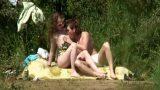 Nehir Kenarında Gizlice Sex Yapan Çifti Dikizledi