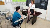 Mature Öğretmen Yeni Yetme Parlak Gence Soyundu