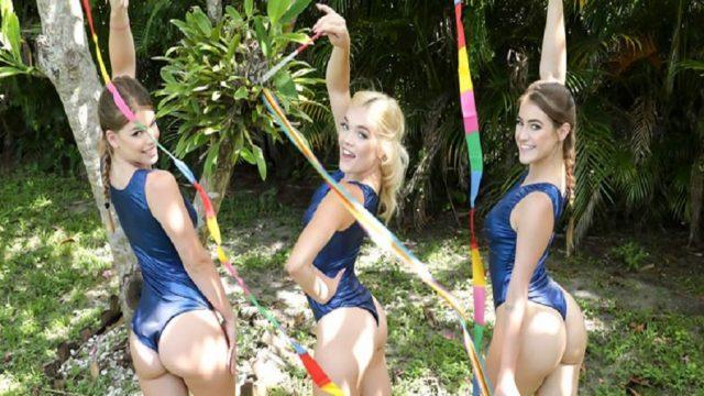 Ponpon Kızlar Akrobasi Sikiş Üçlüsü Grubu Yaptı