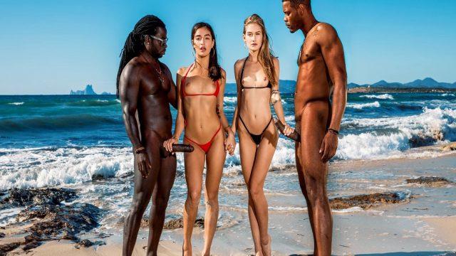Sahildeki Bikinili Kızların Üzerine Kara Büyüler Çöktü
