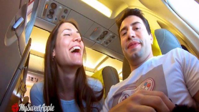 Uçak Havadayken Diklenen Sike Yakalanma Riskli Sakso