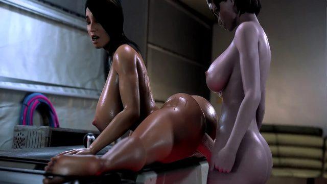 3D Gerçek Efektli Penisli Kadın Anime Seksi