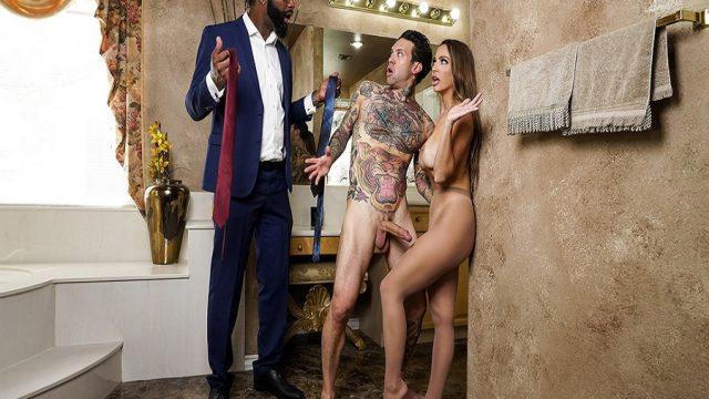 Duştaki Karısını Dövmeli Arkadaşıyla Basan Zencinin Hüsranı