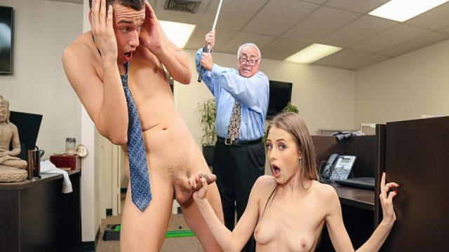 Ofiste Sikişen Yeğenlerini Değnekle Döven Kuralcı Müdür