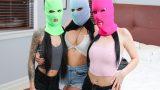 Maskeli Hırsız Kızlar Evdeki Genci Parçalayarak Siktirdiler