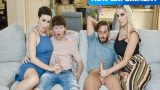 Parlak Gençleri Kullanan Matureler Zorla Swingerli Grup Seks Yaptı