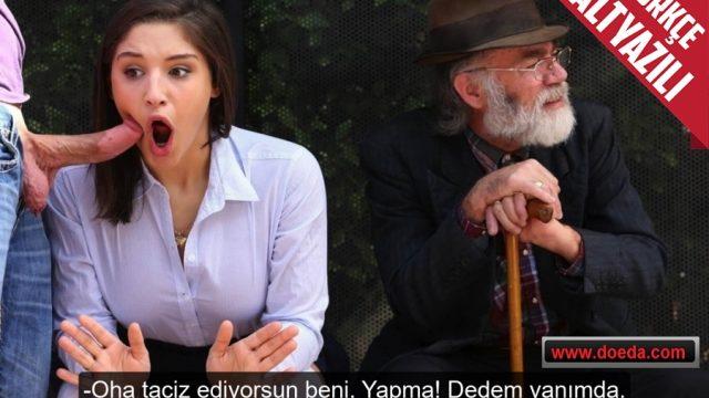 Dedesiyle Gelen Liseli Manitasının Ağzına Durakta Verdi